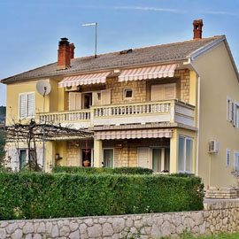 Family accommodation Krstinić - Banjol 604, Rab Croatia